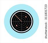 radar theme  flat style ...   Shutterstock .eps vector #311831723