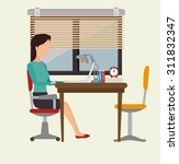 work office design  vector... | Shutterstock .eps vector #311832347