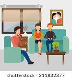 work office design  vector... | Shutterstock .eps vector #311832377