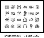 vector icon set in a modern... | Shutterstock .eps vector #311852657