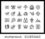 vector icon set in a modern... | Shutterstock .eps vector #311852663
