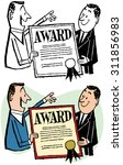 man receiving award plaque | Shutterstock .eps vector #311856983
