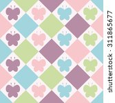 seamless pattern. baby... | Shutterstock .eps vector #311865677