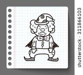 clown doodle drawing | Shutterstock .eps vector #311866103