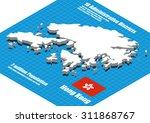 hong kong map vector three... | Shutterstock .eps vector #311868767