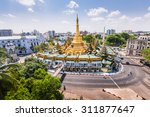 Sule Pagoda During The Day Fro...