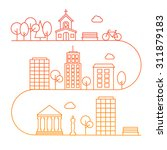 cityscape with different... | Shutterstock .eps vector #311879183