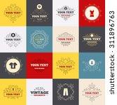 vintage frames  labels. clothes ...   Shutterstock .eps vector #311896763