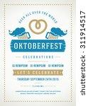 oktoberfest beer festival...   Shutterstock .eps vector #311914517