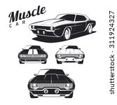 Set Of Muscle Car Templates Fo...