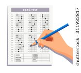 student filling out answers to... | Shutterstock .eps vector #311932817