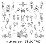 vector ice cream bundle with... | Shutterstock .eps vector #311939747