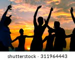 friends vacations beach party... | Shutterstock . vector #311964443