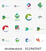 set of abstract wavy elements.... | Shutterstock . vector #311965547