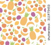 seamless pattern with juicy... | Shutterstock .eps vector #311975453