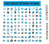 100 education icons  learning ... | Shutterstock .eps vector #311985557