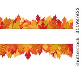 frame with colored autumn leaves | Shutterstock . vector #311987633