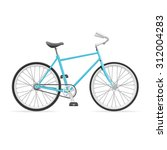 illustration blue road bike... | Shutterstock . vector #312004283