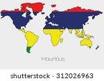a flag illustration inside the... | Shutterstock . vector #312026963