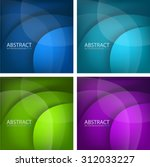 circle curve layer paper vector ... | Shutterstock .eps vector #312033227