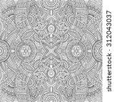 abstract vector tribal ethnic... | Shutterstock .eps vector #312043037