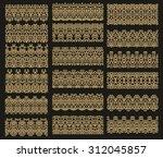 set of decorative elements... | Shutterstock .eps vector #312045857