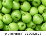 green apple raw fruit and... | Shutterstock . vector #312052823