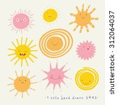 Cute Vector Set Of Sun Icons....