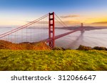 golden gate bridge  san... | Shutterstock . vector #312066647