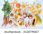selection of assorted fresh... | Shutterstock . vector #312079067