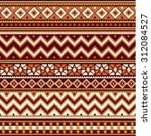 seamless pattern with folk... | Shutterstock . vector #312084527