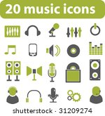20 music icons. green series....