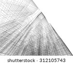 architecture building. 3d mesh... | Shutterstock .eps vector #312105743