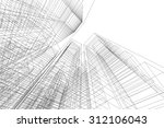 architecture building. 3d mesh... | Shutterstock .eps vector #312106043