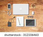 back to school desktop... | Shutterstock .eps vector #312106463