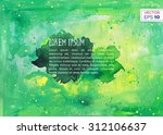 abstract hand drawn watercolor... | Shutterstock .eps vector #312106637