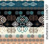 ethno seamless pattern. ethnic... | Shutterstock .eps vector #312106727