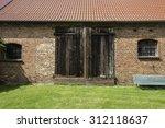 Facade Of Old Brick Walls Barn...