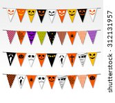 illustration of halloween party ... | Shutterstock .eps vector #312131957