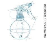 spray trigger  atomizer ...   Shutterstock .eps vector #312133883