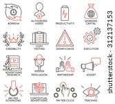 vector set of 16 icons related... | Shutterstock .eps vector #312137153