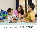 family in a playful mood | Shutterstock . vector #312137783