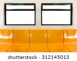yellow seats in electric train... | Shutterstock . vector #312145013