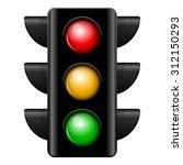 Vector Illustration Of Traffic...