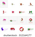 set of new universal company... | Shutterstock . vector #312164177