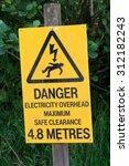 Yellow Sign Warning Of Danger...