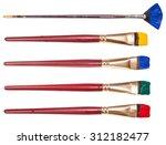 set of flat artistic... | Shutterstock . vector #312182477