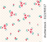 seamless pattern with red and... | Shutterstock .eps vector #312190517