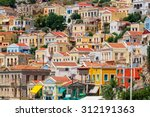 traditional greek colorful... | Shutterstock . vector #312191363