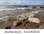 Shore Of Onega Lake In Karelia...